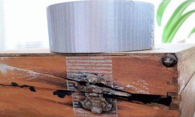 Как оттереть клей от скотча с мебели