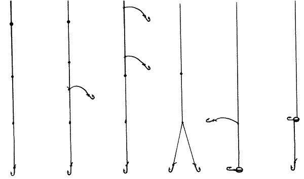 Как привязать два крючка на поплавочной удочке