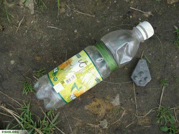 Ловля щуки на живца на бутылку